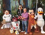 Lucas coi personaggi Disney