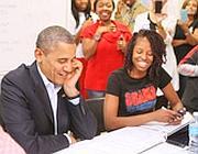 Barack Obama il 28 ottobre a Orlando, in Florida, durante la campagna elettorale (Joe Burbank/Mct/Zumapress.com)