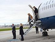 L'arrivo di Romney in Ohio  (Afp)