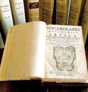 Una edizione del «Vocabolario» stampato a Venezia nel 1612