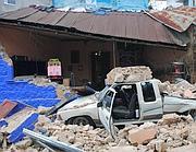 I danni provocati alla città di San Marcos, a 240 km da Città del Guatemala (Afp)