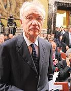 Giovanni Bazoli,  presidente del Consiglio di sorveglianza di Intesa Sanpaolo