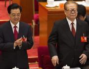 Hu Jintao e Jiang Zemin al Congresso