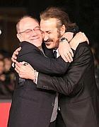 Con Marco Giallini sul red carpet