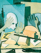 Felice Casorati, «Mani, oggetti, testa...», opera commissionata dall'imprenditore Giuseppe Verzocchi tra il 1949 e il 1950