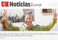 L'immagine pubblicata dal quotidiano di Maiorca