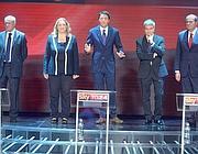 Bruno Tabacci, Laura Puppato, Matteo Renzi, Nichi Vendola e Pier Luigi Bersani (Imagoeconomica)