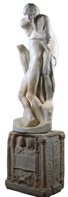 La Pietà Rondanini è una scultura incompiuta di marmo di quasi 2 metri realizzata da Michelangelo.  Venne scolpita nel 1552-1553 (prima versione). Si tratta dell'ultima opera dell'artista