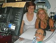 Salvatore Usala, uno dei malati che non ha portato con sé le batterie per il respiratore
