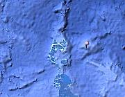 L'isola cos� come appare su Google Earth