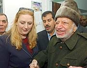 Arafat con la moglie Suha (Ap)
