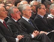 Mario Monti agli stati generali dei manager a Milano (Ansa/Bazzi)