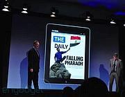 La presentazione del The Daily un anno e mezzo fa. Ora chiude la testata per iPad (Reuters)