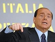 Silvio Berlusconi alla presentazione di un libro di Bruno Vespa (Ap/De Luca)