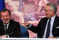 Maroni e Tremonti quando erano ministri (Fotogramma)