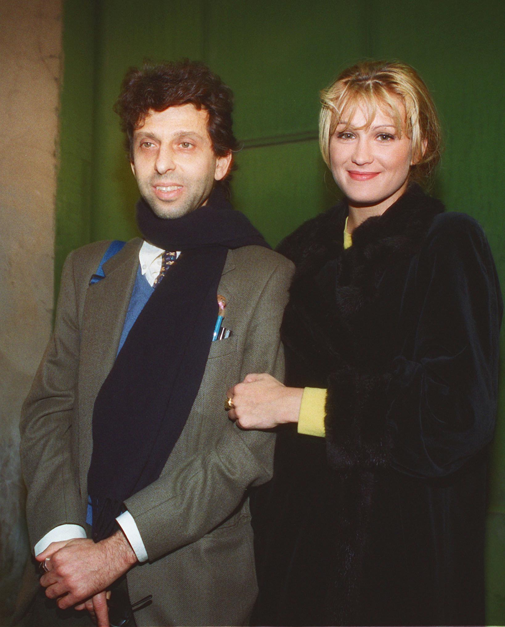 Schicchi con l'ex moglie Eva Engher