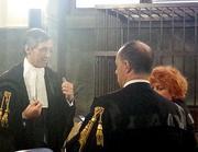 Ghedini con la Boccassini  in aula (archivio Corriere)