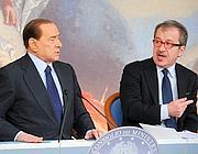 Berlusconi e Maroni (ImagoEconomica)