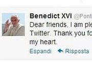 Il Primo «tweet» del Papa