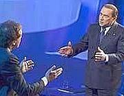 Giletti e Berlusconi a Domenica In: un' accesa  discussione (Ansa)