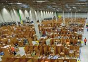 Il centro logistico di Amazon a Graben, in Germania