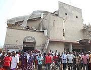 Un'immagine del 25 dicembre 2011, quando  erano esplose bombe contro chiese cattoliche durante la messa di Natale (Afp/Sunday Aghaeze)