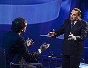 Berlusconi a Domenica in (Ansa/Montani)