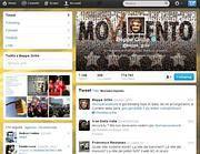 Il profilo Twitter di Grillo che ha lanciato#tornaacasamonti