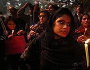 La protesta delle donne indiane (Ap)