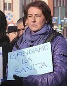 Una manifestazione di protesta dei dipendenti del servizio sanitario (Eidon)