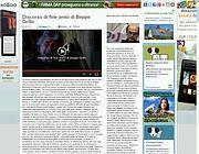 Il video messaggio sul blog di Grillo