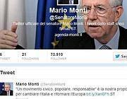 La pagina Twitter di Monti
