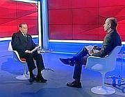 Un momento dell'intervista a Sky Tg 24