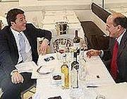 Renzie  Bersani a pranzo