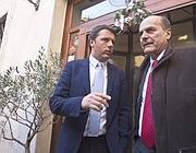 Matteo Renzi (a sinistra) e Pier Luigi Bersani (Benvegnù-Guaitoli)