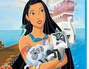 La Pocahontas disneyana con il Carlino e il procione