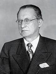 Alcide De Gasperi (1881-1954), che ebbe notevoli contrasti con Dossetti