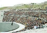 Il teatro greco di Siracusa, al centro di una contrapposizione fra il ministro dei Beni culturali Lorenzo Ornaghi e l'ex ministro Stefania Prestigiacomo