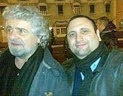 Foti assieme a Beppe Grillo (da Lasiciliaweb)