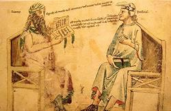 Porfirio e Averro�. Monfredo de Monte Imperiali �Liber de herbis�, XIV sec