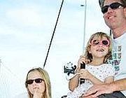 Alessia e Livia con il padre