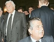 Agnelli e Carlo De Benedetti (Ansa)