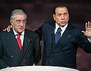 Silvio Berlusconi e Marcello Dell'Utri (Ansa)