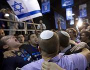 Sostenitori della lista Likud-Beitenu festeggiano