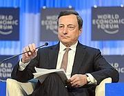 Il presidente della Bce, Mario Draghi (Epa)