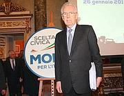 Il premier dimissionario Mario Monti (Ansa)