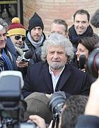 Beppe Grillo a Firenze lo scorso 25 gennaio