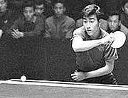 Zhuang Zedong alle finali del campionato mondiale di ping pong a Pechino (Ap/Xinhua, Zhang Hesong)