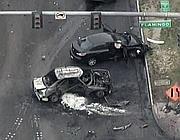 Le auto coinvolte nella sparatoria