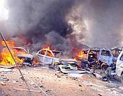 L'esplosione a Damasco (Ap/Sana)